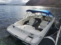 bayliner 175 bowrider speedboat canopy wakeboard tower