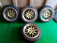 4x100 16inch Deep dish alloy wheels for sale.