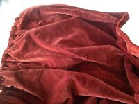 Pairs rust red heavy thick lined velvet curtains 222 x 268 cm with pelmet