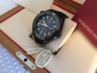 Omega Watch Black Ceramic ref: 215.92.46.22.01.001 Beautiful and PRISTINE