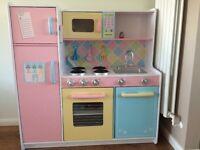 Kidcraft large pastel play kitchen hardly used