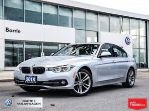 2018 BMW 330I xDrive,18772km, bluetooth, AWD, Blind Spot, Nav,