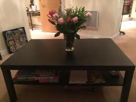 Large black/brown coffee table