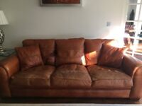 2 x Large Duresta Spitfire Leather Sofas for sale in good used condition, as pair or separately.