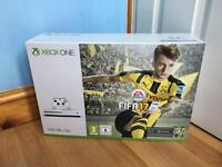 Xbox One S 500 gb with Fifa 17 ** Brand New unopened sealed box ** 12 months warranty