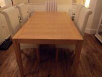 Kevin McCloud Oak Rectangular Dining Table.