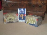 lurpack butter dish & toast rack in original boxes