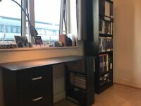 Selling Office Set- Desk, Desk Chair, and Bookshelf