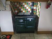 Rayburn 400K Cookmaster, RARE British Racing Green, Oil Fueled Made by Aga