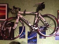 Carbon Fibre Racing Bike with accessories