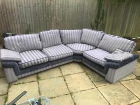 Corner sofa grey