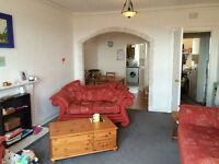 Large bright flat to rent . 1 double room and one single.
