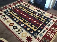 2 Superb giant twin sided rugs 2m85cms x 1m96 cms