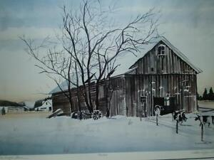 "Robin Zefers Clark-""The Heifer Barn""-Limited Edition Print Kitchener / Waterloo Kitchener Area image 6"