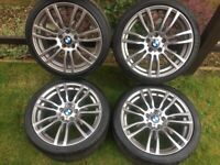 BMW 19 INCH 403 STYLE ALLOY WHEELS - PRISTINE CONDITION WITH PREMIUM RUN FLAT TYRES F30