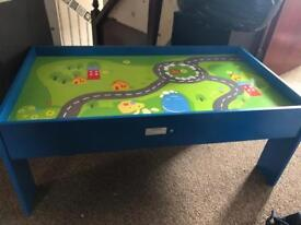 Children's train play table