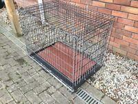 Dog cage.