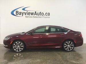 2016 Chrysler 200 C- 3.6L! PANOROOF! REMOTE START! LEATHER! NAV!
