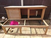 6ft rabbit hutch and run