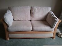 Comfortable solid bed settee