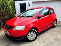 **1 PREV OWNER** 2010 VOLKSWAGEN URBAN FOX 55 1.2 PETROL RED 3 DOOR HATCHBACK MANUAL