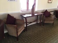 2 tub chair and matching table set