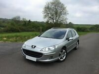 Peugeot 407sw hdi full mot from today