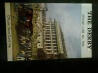 horse racing memorabilia the deby official race card 1975