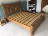 Indigo Furniture Chunky Solid Wood King Size Bed Frame
