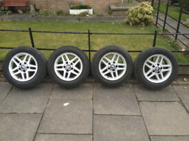 BMW 15 inch Alloy Wheels with Winter Tyres