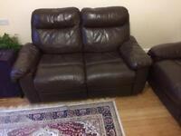 Italian brown leather sofas