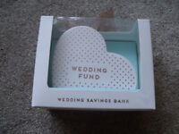 Engagement/Wedding Fund/ Savings bank/ new in box- ideal gift for bride/ groom to be