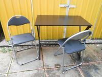 Desk / Table and 2 Folding Chairs - - £15 - - -