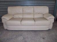 Cream Full Leather 3-2-1 Suite (Sofa)