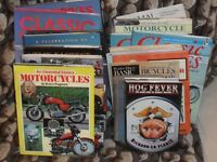 collection of old classic motorcycle books