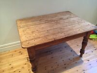 Old Rustic Farmhouse Kitchen Table