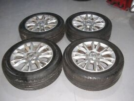 """Astra 16"""" 16 inch alloy wheels and tyres 205/55zR16 205/55R16"""