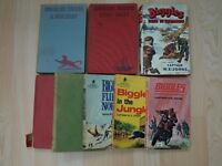 A Collection of Biggles Books - 5 Hardbacks and 3 Paperbacks incl 1 first edition.