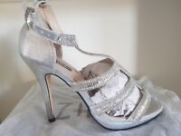 Heeled Shoes (Size 7 ) plus matching bag (price dropped for quick sale)