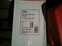 Office Depot Manilla Envelopes Plain Self Seal 80gsm C4 229 x 324 mm C4 Box of 250 - 2078211