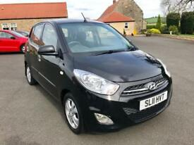 HYUNDAI I10 1.2 ACTIVE 5d 85 BHP GREAT FIRST CAR, LOW MILEAGE (black) 2011