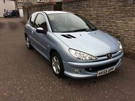 2005 PEUGEOT 206 1.4 SPORT, TWO OWNERS, VERY LOW MILES, FULL HISTORY, NEW MOT. LOVELY CONDITION.