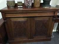 Beautiful Antique Mahogany Carved Chiffonier / Sideboard with Drawer
