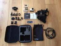 GoPro Hero 3+ Silver Edition with accessories and chesty