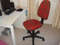 Tartan computer chair for sale
