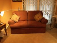 Marks and Spencer two seat sofa in Teracotta.