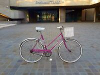 Cutest vintage bike ever! 1978 Raleigh Caprice with new basket.