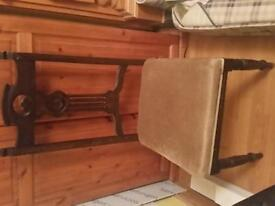 pair old vintage wooden chairs