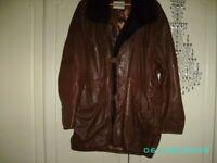 Mens designer Italian leather jacket / coat Men's.