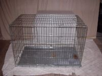 GALVANISED EXTRA LARGE DOG CRATE WITH BOTH FRONT AND SIDE OPENINGS